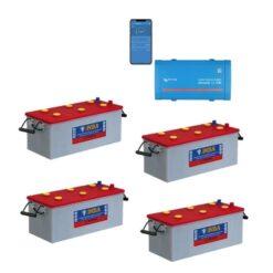 Kit Inverter Victron Energy Phoenix VE.Direct 12V 1000W onda pura 12/1200 Batterie 800Ah Nba