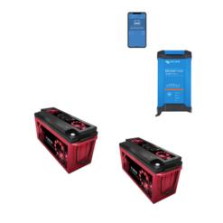 Kit Caricabatterie Victron Energy Blue Smart IP22 12V 30A 1 uscita + batterie Zenith 12V 320Ah