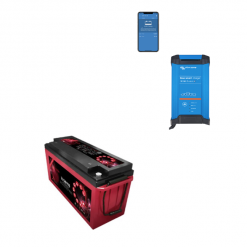 Kit Caricabatterie Victron Energy Blue Smart IP22 12V 15A 1 Uscita + batterie Zenith 12V 160Ah
