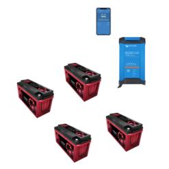 Kit Caricabatterie Victron Energy Blue Smart IP22 12V 30A 1 uscita + batterie Zenith 12V 640Ah