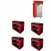 Kit Caricabatterie ZHF2430 24V 30A automatico ad alta frequenza + batterie Zenith 12V 560Ah
