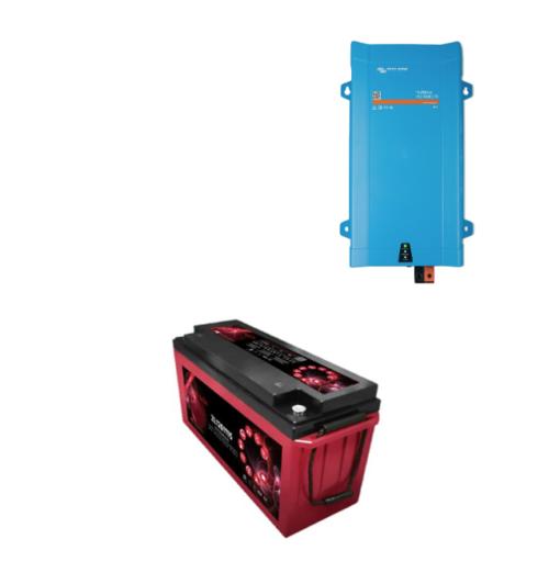 Inverter Victron energy 12V 1200VA caricabatterie PMP122120000 Batteria Zenith 160Ah