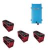 Kit Inverter Victron energy 12V 1200VA caricabatterie PMP122120000 Batteria Zenith 640Ah