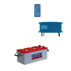 Kit Caricabatterie Victron energy Blue Smart IP67 12V 13A 1 uscita BPC121313006 Batteria Nba 200Ah
