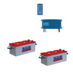 Kit Caricabatterie Victron energy Blue Smart IP67 24V 12A 1 uscita BPC241213006 Batteria Nba 400Ah