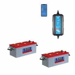 Kit Caricabatterie Victron energy Blue Smart IP65 24V 13A IP65 BPC241331064 Batteria Nba 400Ah
