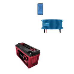 Kit Caricabatterie Victron energy Blue Smart IP67 12V 13A 1 uscita BPC121313006 Batteria Agm Zenith 200Ah