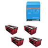 Kit Inverter Victron energy 48V 3000VA caricabatterie PMP483021010 Batteria Zenith 260Ah
