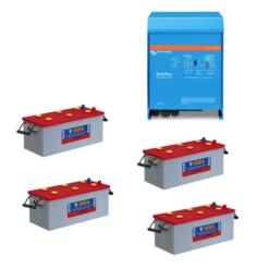 Kit Inverter Victron energy 48V 3000VA caricabatterie PMP483021010 Batteria NBA 200Ah 7TG12N