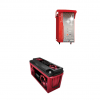 Kit Caricabatterie ZHF1212 12V 12A automatico ad alta frequenza + batterie Zenith 12V 130Ah
