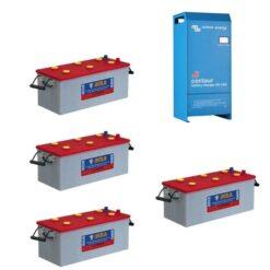Kit 24V Caricabatterie Caricatore Centaur 24V 16A 24/16 3 uscite Victron Energy CCH024016000 + Batterie NBA 400Ah