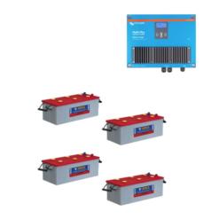 Kit 12V Caricabatterie Caricatore Skylla-IP44 12V 70A 1+1 Victron Energy SKY012070000 + Batterie NBA 400Ah