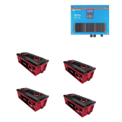 Kit 12V Caricabatterie Caricatore Skylla-IP44 12V 70A 1+1 Victron Energy SKY012070000 + Batterie AGM Zenith 400Ah