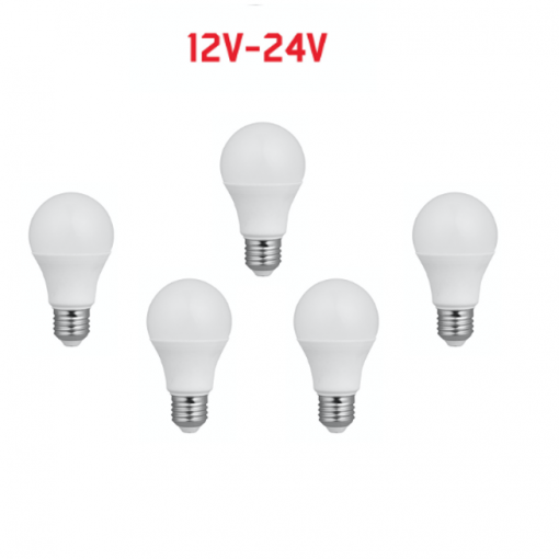 Lampadina 12-24V 5pz Classica LED 9-30V 10W 890lm 3000K E27 angolo 180°