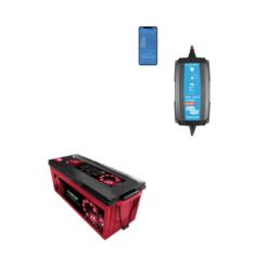 Kit Caricabatterie Victron energy Blue Smart IP65 12V 15A IP65 BPC121531064R Batteria Agm 200Ah zenith