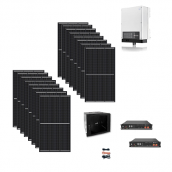 Kit 3Kwp Inverter Goodwe 3Kw ibrido bidirezionale GW3048‐EM batterie Pylontech pannelli Jinko 340Wp