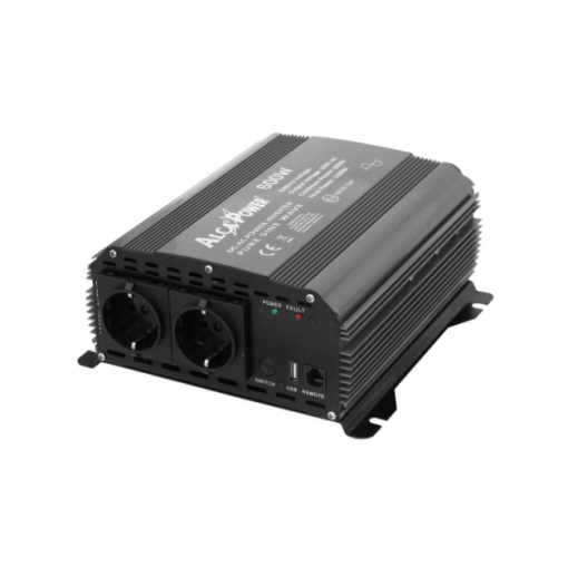 Inverter Alcapower onda pura Potenza 600W (picco 1200W) Input 12V DC Out 230V AC