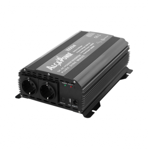 Inverter Alcapower onda pura Potenza 1000W (picco 2000W) Input 12V DC Out 230V AC