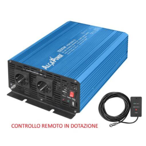 Inverter Alcapower onda pura Potenza 1500W (picco 4500W) Input 12V DC Out 230V AC alta potenza