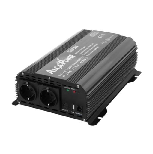 Inverter Alcapower onda pura Potenza 1500W (picco 3000W) Input 24V DC Out 230V AC