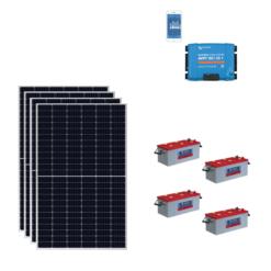 KIT Baita 1980W 2Kw Pannello Solare SHARP 330W 24V HALF CELL + Regolatore Victron SmartSolar 35A SCC115035210 + Batterie 200Ah