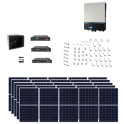 Kit Solare Isola Baita 7kwp Inverter 7KW con regolatore mppt Modulo Policristallino 290W batteria Litio Pylontech + staffe