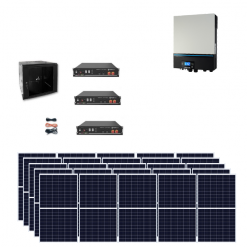 Kit Solare Isola Baita 7kwp Inverter 7KW con regolatore mppt Modulo Policristallino 290W batteria Litio Pylontech