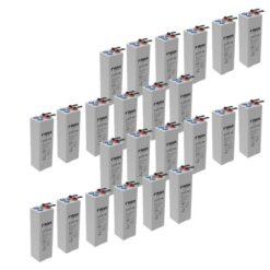Banco Batteria 48V OpzV 200Ah GEL Faam 4STG50-2 deep cycle ciclica LONG LIFE made in Italy top di gamma