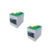 Banco Batteria 12V Piastra Corazzata Tubolare C20 260Ah 6V X Fotovoltaico 1200cicli