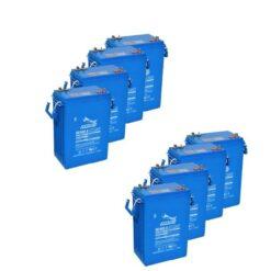 Banco Batteria 1600Ah 12V FULLRIVER 6Volt DC400-6 AGM deep cycle alte prestazioni top di gamma