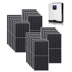 Kit Ibrido 8Kwp Inverter 7,2Kwh pannelli 360Wp monocristallini HALF CELL top di gamma