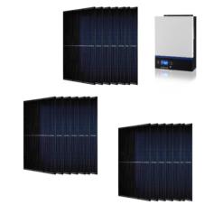 Kit Ibrido 8Kwp Inverter 7,2Kw pannelli 335Wp monocristallini Full Black HALF CELL