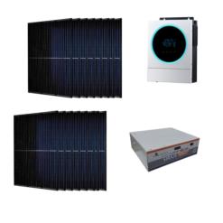 Kit Ibrido 6Kwp Inverter 5,6Kw pannelli 335Wp monocristallini Munchen total black HALF CELL batteria Condesatori