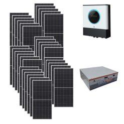 Kit Ibrido 10Kwp Inverter 10Kwh pannelli 345Wp monocristallini Qcells Q.PEAK DUO-G9 batterie Condesatori 7,1Kwh