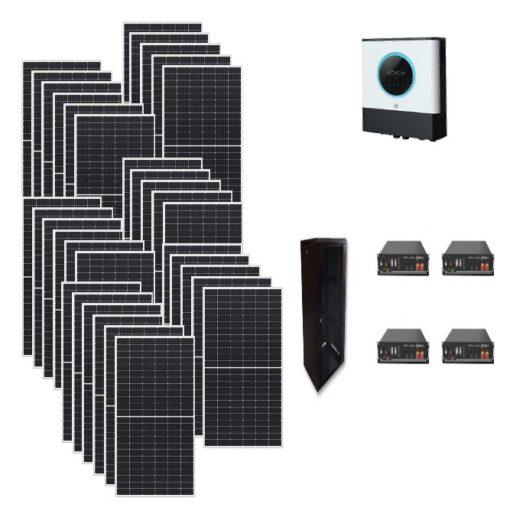 Kit Ibrido 10Kwp Inverter 10Kwh pannelli 375Wp monocristallini Munchen solar batterie Litio 9,6Kwh